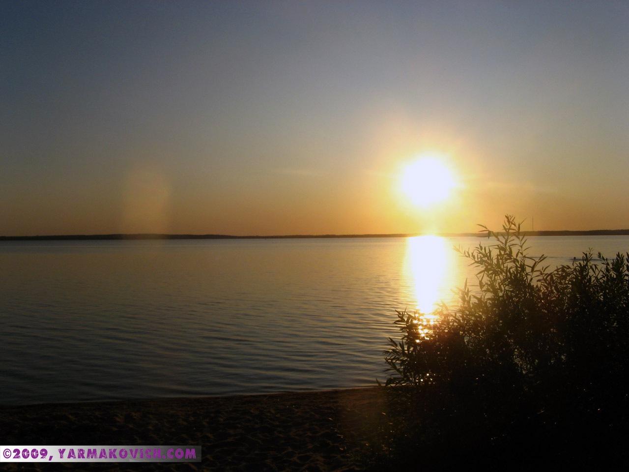Закат на озере Дривяты