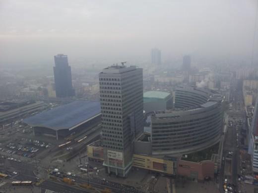 Варшава с высоты птичьего полёта
