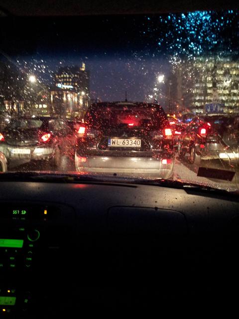 пробки в Варшаве