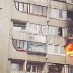 Пожар на улице Плеханова в Минске [видео, фото]