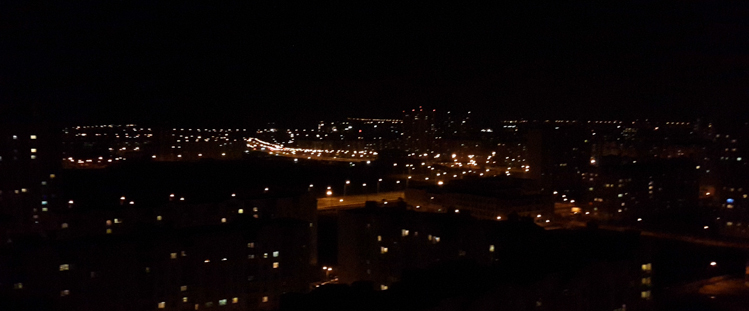 ночь на крыше