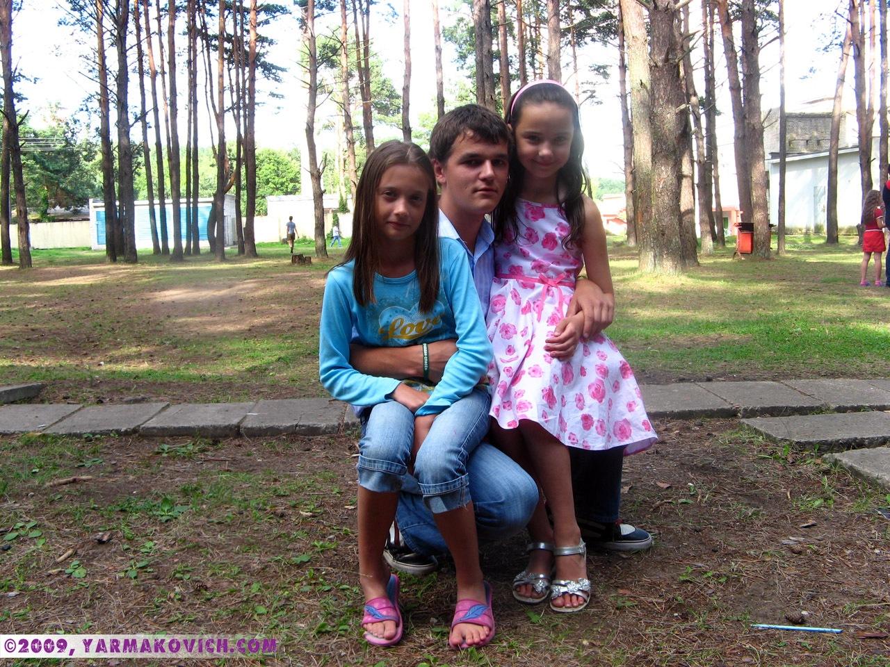 Дима с Кристиной и Олей