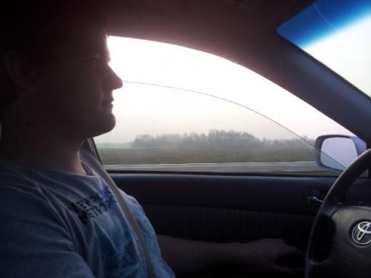 Дима за рулём