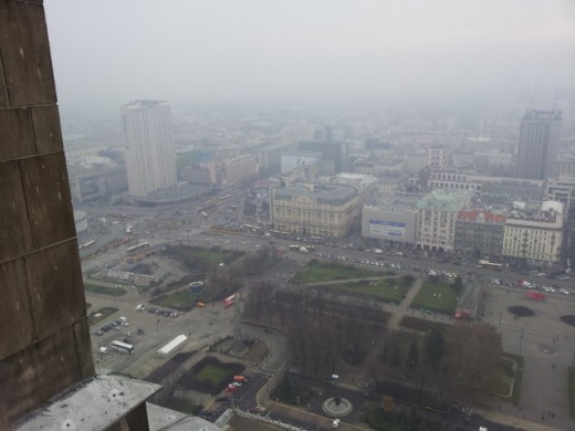 вид со сталинки в Варшаве