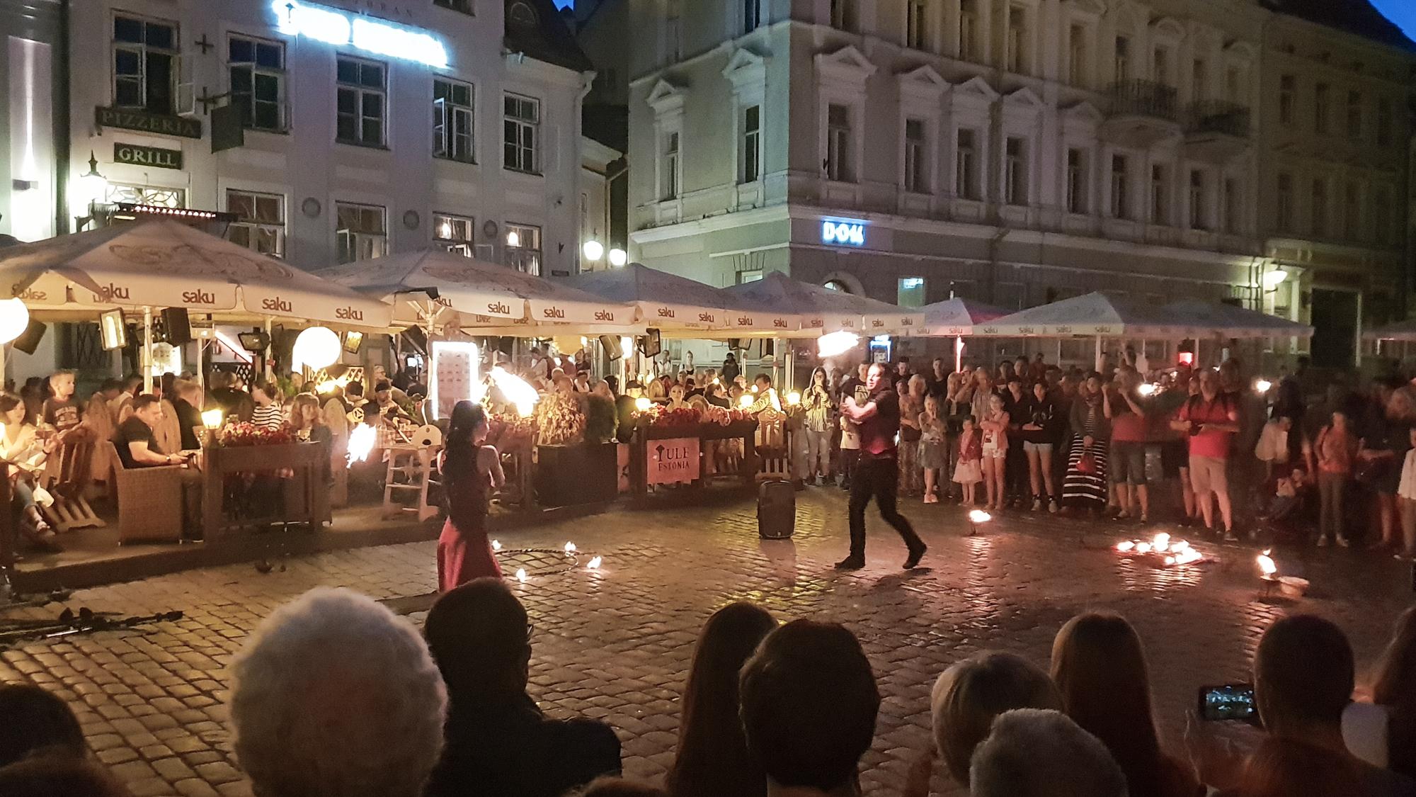 огненное шоу в Таллине