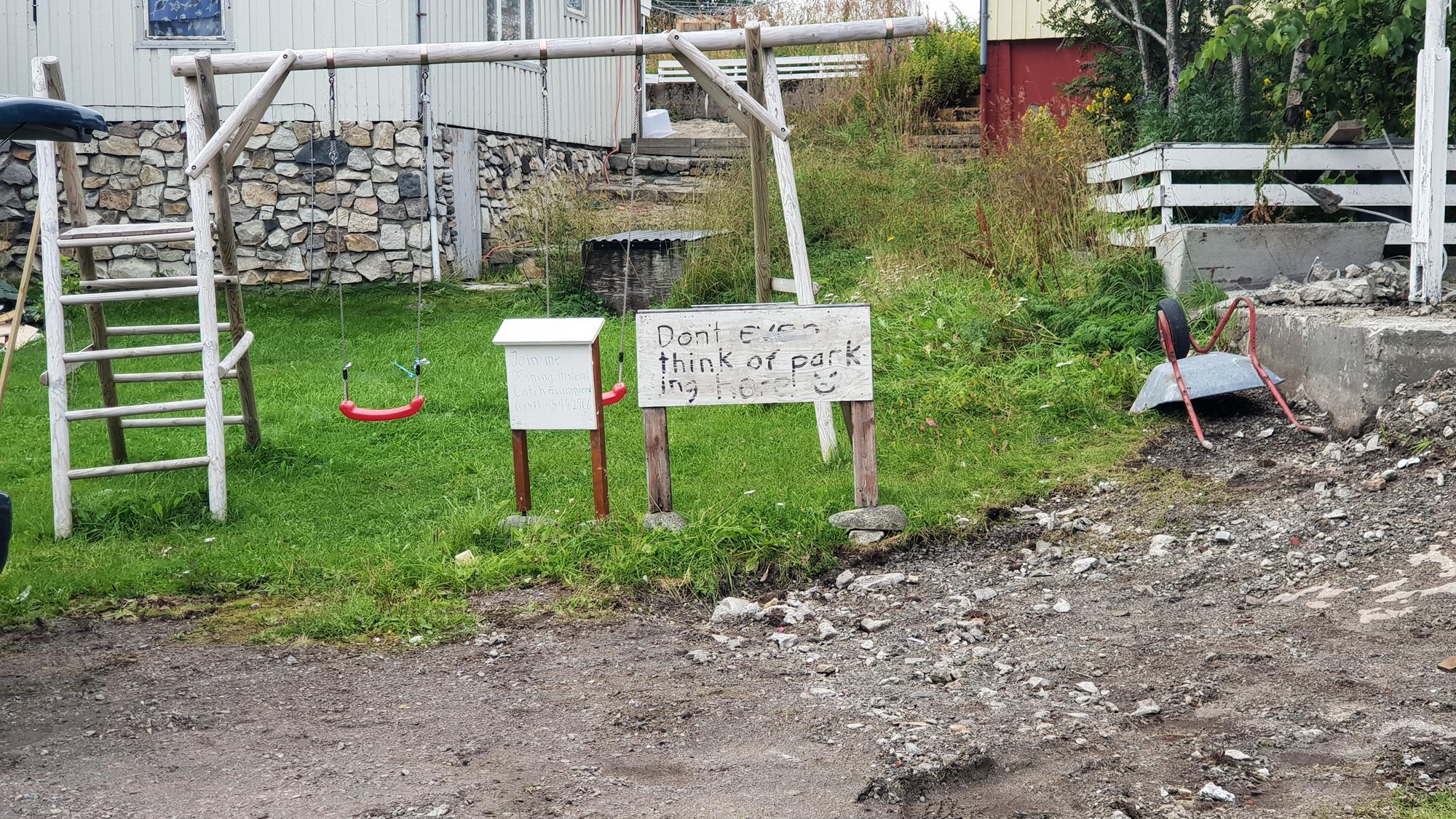 знак о парковке в Хеннингсвер